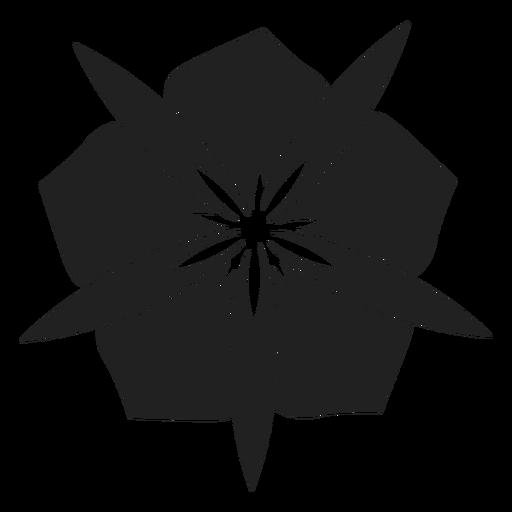 Flower with wide petals vector