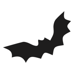 Silhoutte de morcego negro voador
