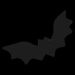 Volar murciélago negro silhoutte
