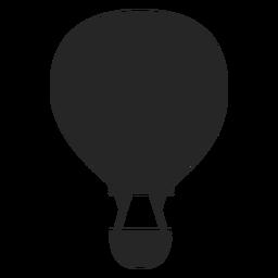 Silhueta de balão de ar quente a voar