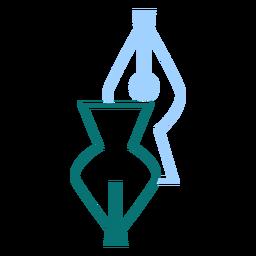 Vector de estilo de línea de punta de pluma