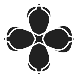 Four petal flower icon