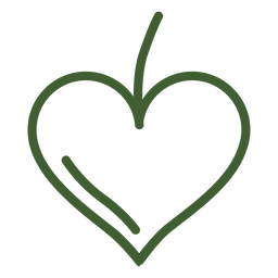 Fruit heart icon