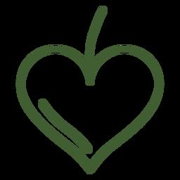 Icono del corazón de la fruta