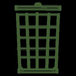 Icono de cubo de basura