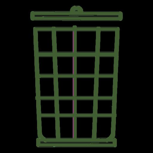 Icono de cubo de basura Transparent PNG