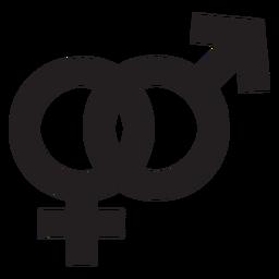 Silhueta de símbolo de gênero