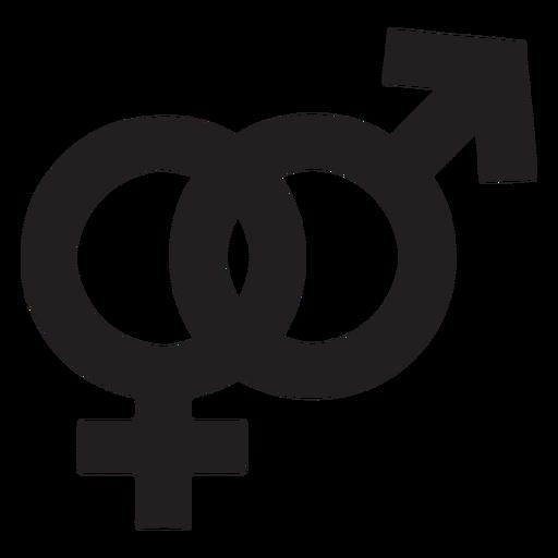 Gender symbol silhouette Transparent PNG