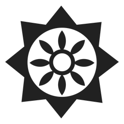 Geometric flower icon
