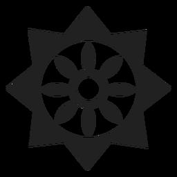Icono de flor geométrica