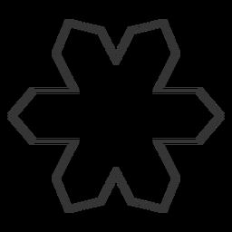 Icono de estilo de línea de forma geométrica