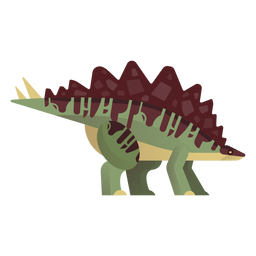 Gigantspinosaurus dinosaur vector