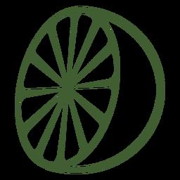 Halbe Zitrone-Symbol