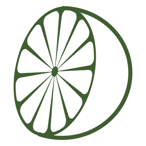 Half lemon icon Transparent PNG