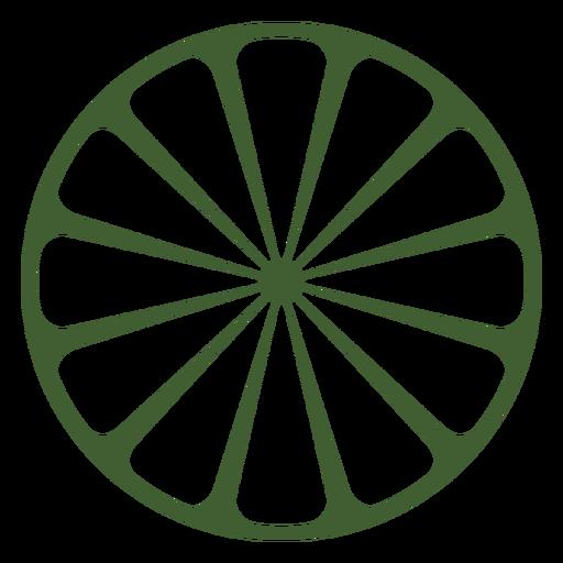 Icono de media naranja Transparent PNG