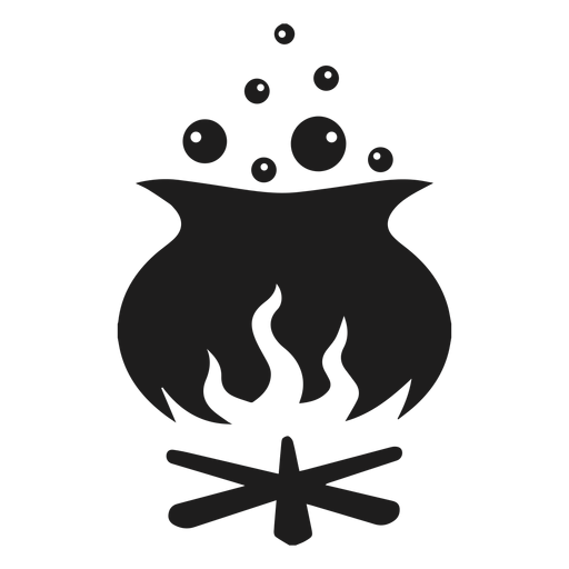 Halloween witch pot silhouette Transparent PNG