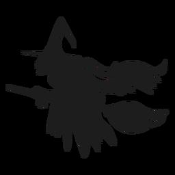 Halloween bruxa silhueta dia das bruxas