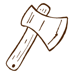 Hand drawn axe icon