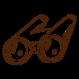 Icono de binoculares dibujados a mano