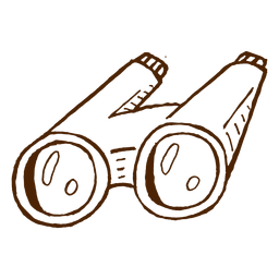 Mão, desenhado, binóculos, ícone
