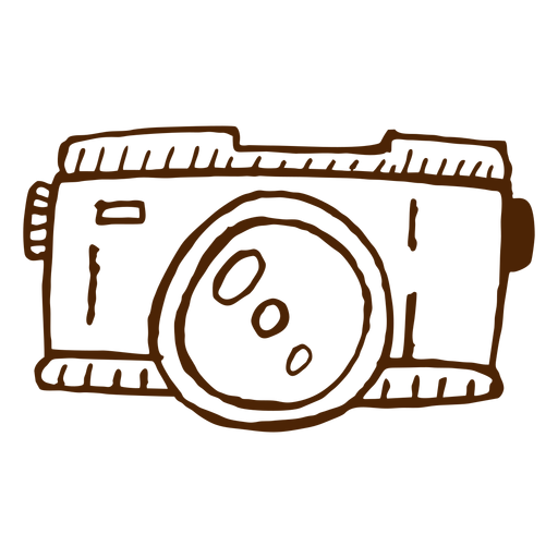 Hand drawn camera icon camping Transparent PNG