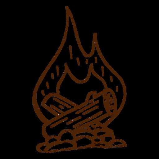 Dibujado a mano icono de hoguera camping Transparent PNG
