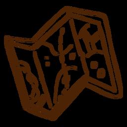 Dibujado a mano icono de mapa de camping