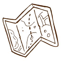 Icono de mapa de camping dibujado a mano