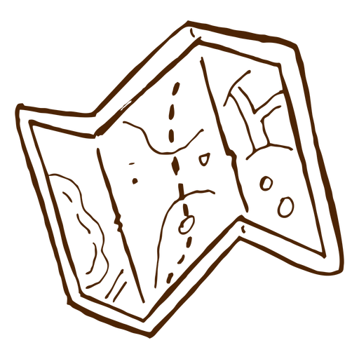 Hand drawn camping map icon Transparent PNG