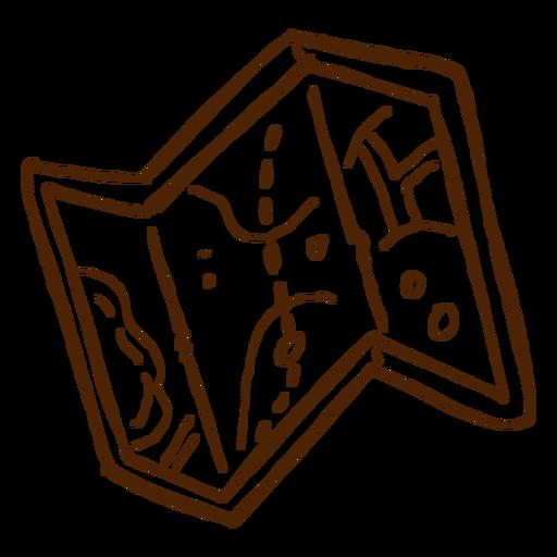 Mão, desenhado, acampamento, mapa, ícone Transparent PNG