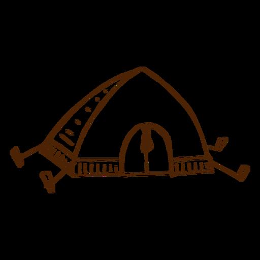 Ícone de barraca de acampamento de mão desenhada Transparent PNG