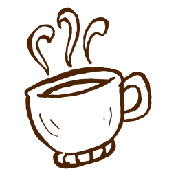 Dibujado a mano taza de café icono de camping