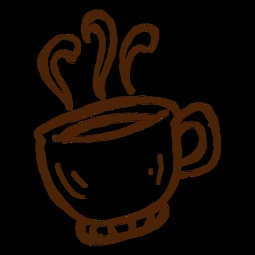 Dibujado a mano taza de café icono de camping Transparent PNG
