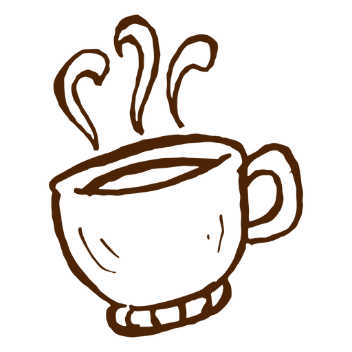 Hand drawn coffee cup icon camping Transparent PNG