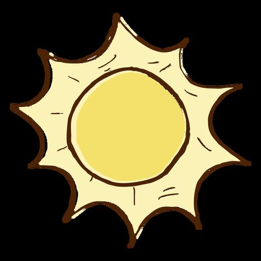 Mão, desenhado, colorido, sol, ícone Transparent PNG