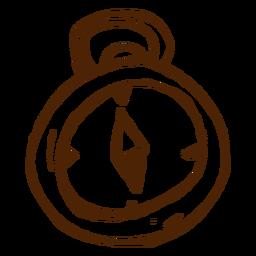 Icono de brújula dibujada a mano
