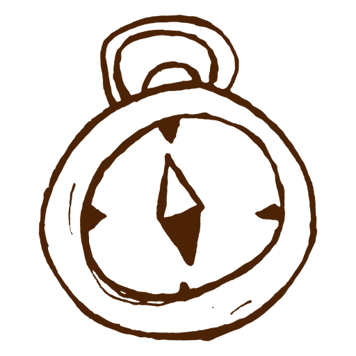 Icono de brújula dibujada a mano Transparent PNG