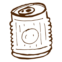 Hand drawn drink can icon