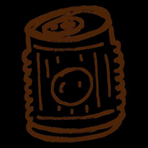 Dibujado a mano icono de bebida puede Transparent PNG