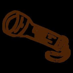 Icono de linterna dibujado a mano