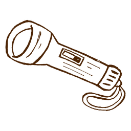 Mão desenhada lanterna ícone