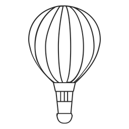 Hand drawn hot air balloon silhouette