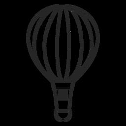 Silhueta de balão de ar quente de mão desenhada