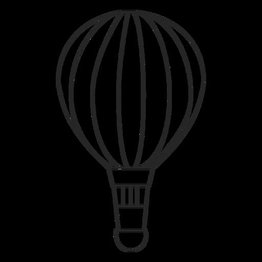 Hand drawn hot air balloon silhouette Transparent PNG