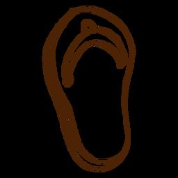 Ícone de sandálias ao ar livre desenhada de mão