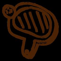 Dibujado a mano icono de raqueta de ping-pong