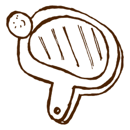 Dibujado a mano icono de raqueta de pingpong
