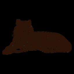 Dibujado a mano ilustración de tigre relajante