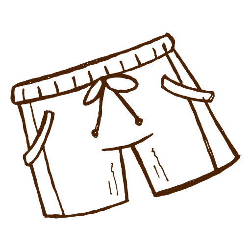 Hand drawn swimming shorts icon Transparent PNG