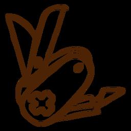 Mão desenhada ícone faca suíça